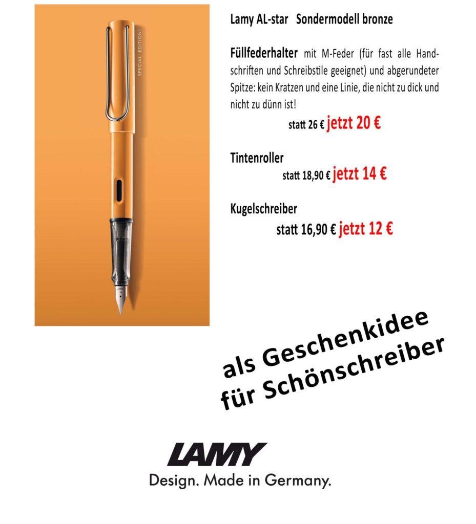 Lamy Füller Angebot Driemeier