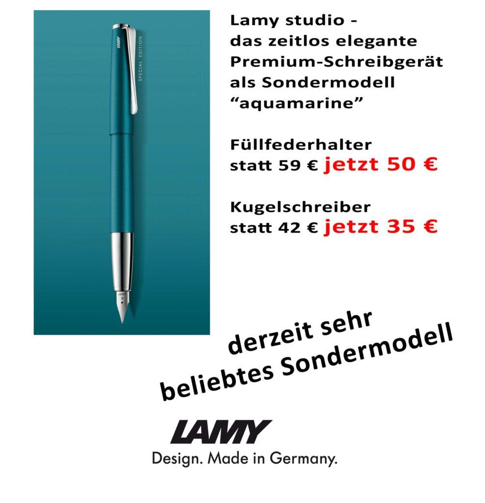 Lamy studio aquamarine Angebot Driemeier