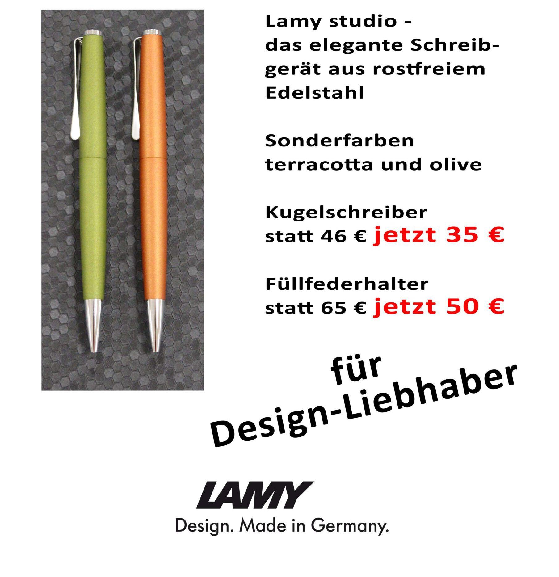 Lamy studio olive terracotta Angebot Driemeier